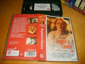 SOPHIE-039-S-CHOICE-1982-1990-039-s-Carlton-Retail-Vhs-Issue-Academy-Adult-Drama