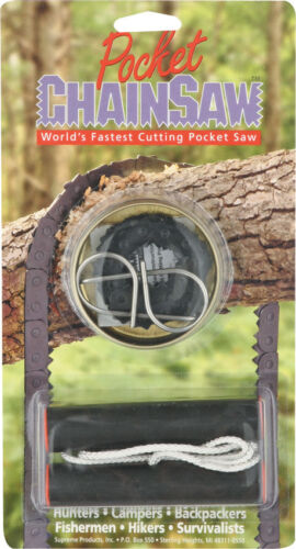 "Supreme Pocket Chainsaw PS102 World/'s fastest cutting pocket saw Cut a 3/"" diame"