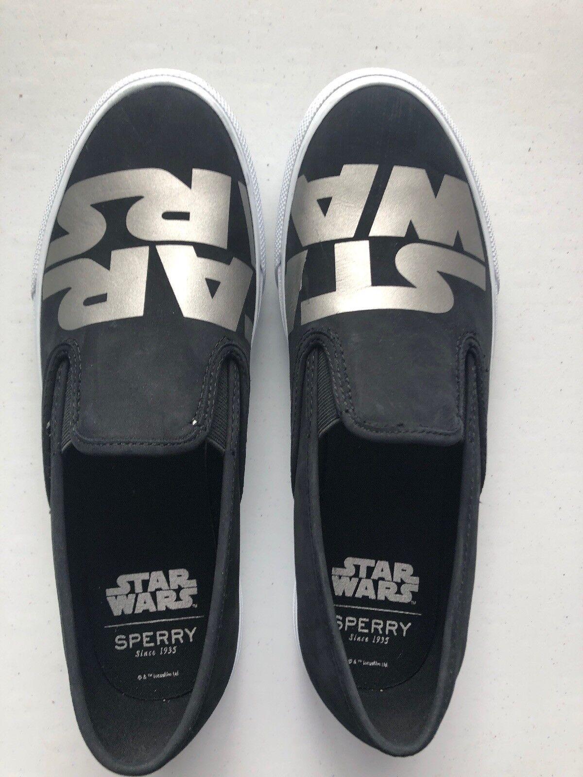 Darth Vader Black & Silver Star Wars Sperry slip on shoes 9.5 m Medium