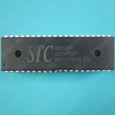 4PCS STC89C52RC40C-PDIP STC 89C52RC 40C-PDIP NEW Microcontrolle鈥媟 DIP