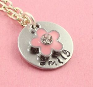 Pink-Flower-Girl-Necklace-Personalized-Wedding-Gift-Silver-Present-For-Child