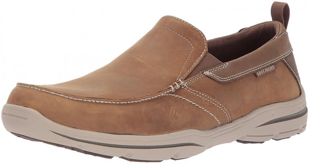 Skechers Men's Harper-Forde Driving Style Loafer Moc Slip-On Sandals Comfort