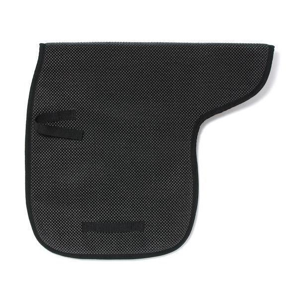 Black 30 x 30 Tough-1 Air Flow Shock Absorber PVC Built-Up Saddle Pad