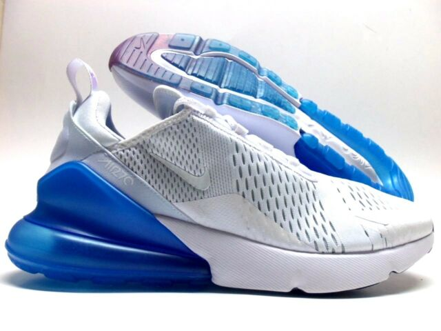 the best attitude 3a896 cbad0 Nike Air Max 270 Mens Aq7982-100 White Photo Blue Mesh Running Shoes Size 13