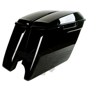 Image Is Loading 2 Into 1 Extended Stretched Saddlebags For Harley