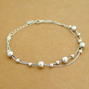 Sterling Silver 3mm and 5mm Ball Bracelet
