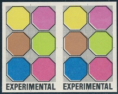 United States Stamps #td-118 Pair Octagon Experimental Stamp Xf Og Nh Cv $280.00 Bq7675