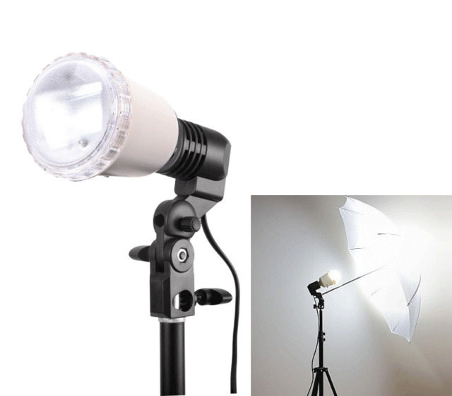 S45T AC Slave Flash Light  E27 Bulb Holder Lamp Umbrella Stand Studio Strobe kit