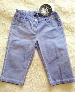 NWT-Authentic-MISS-BLUMARINE-Blue-Denim-Cropped-Capris-Pants-7-yrs-rrp-180
