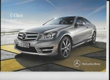 MERCEDES BENZ C-CLASS COUPE SALES BROCHURE JUNE 2012