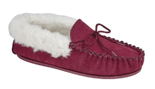 Mokkers EMILY Leather Moccasin Slipper Real Wool Lining