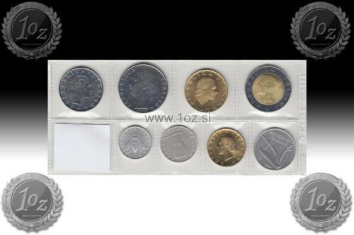 ITALY SET 1984-9 coins 1984 UNC 1, 2, 5, 10, 20, 50, 100, 200, 500 LIRE