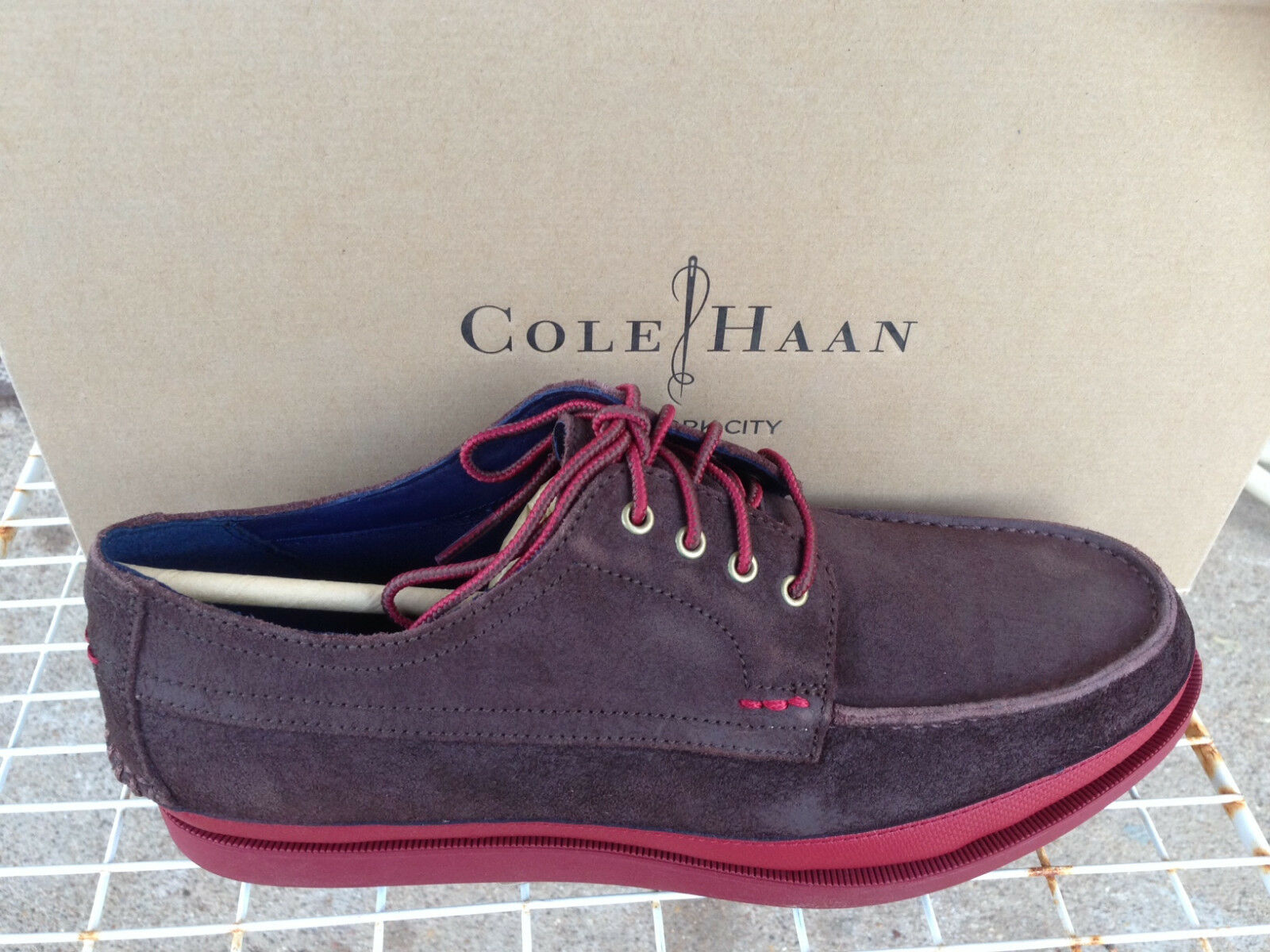 NEW  Herren COLE HAAN MASON 4 EYE OXFORD  CHESTNUT Herren LACE-UP LEATHER Schuhe CHESTNUT  SIZE 8 c31418