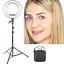 "thumbnail 8 - Ring Light 14"" Dimmable Selfie Makeup Youtube Tripod Video Live Camera Photo UK"