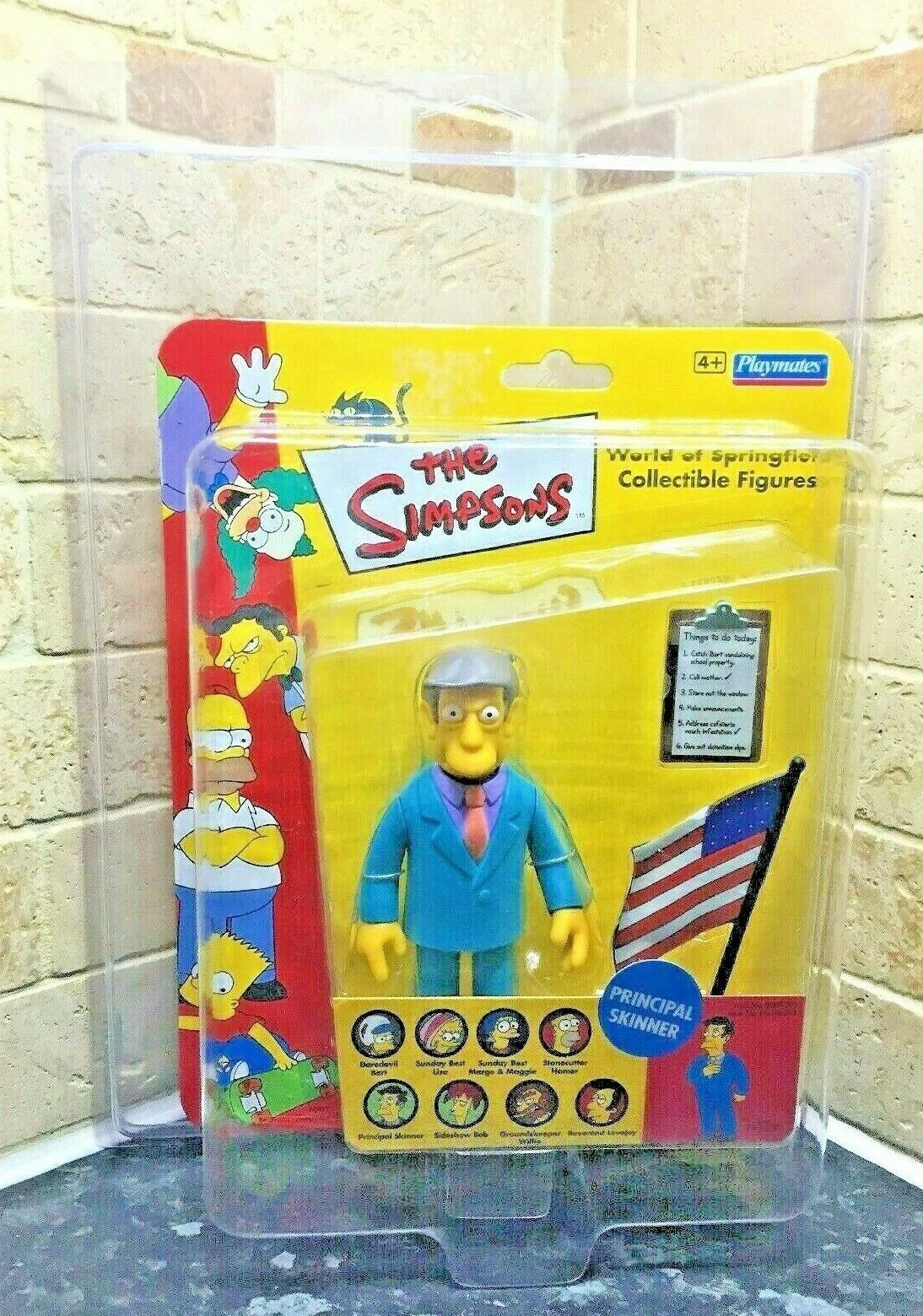 UK Exclusive Principal Skinner World Of The Simpsons WOS Figure Zoloworld Case
