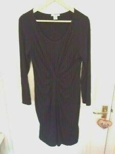 MAMAS-AND-PAPAS-Size-14-Black-Stretch-Maternity-Dress-VGC