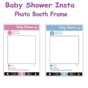 Grande-taille-Baby-Shower-Photo-Booth-Party-Prop-Insta-Selfie-Cadre-Fun-photographie