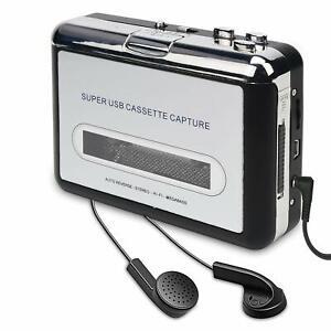 Kassettenspieler-Kassette-zu-MP3-CD-Recorder-ueber-USB-Kassettenkonverter