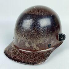 Vtg Msa Skullgard Sz Med Fiberglass Protective Hard Hat Cap Welders Lugs Safety