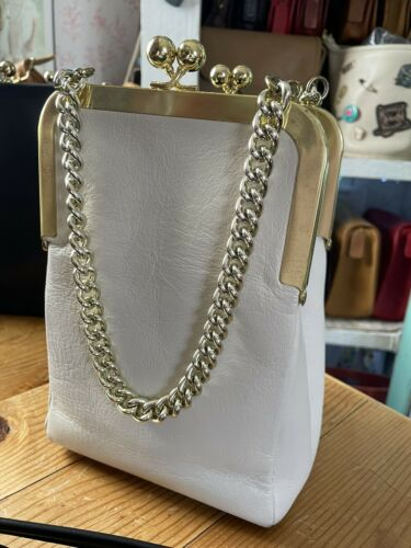 Vintage Ivory Chain Handle Bonnie Cashin Coach Dou