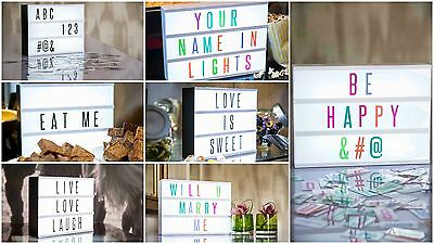 CINEMATIC LIGHT BOX - Personalisable A3/A4/A5 Signs - Wedding/Party Decoration