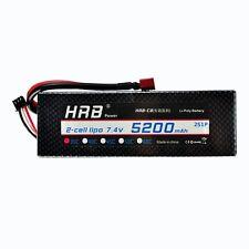 HRB 2S Lipo Battery 5200mAH 7.4V 35C Hard Case RC Car Truck RC Hobby ROAR ExMa