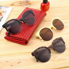 Retro Black Lens Vintage Men Women Round Frame Sunglasses Glasses Eyewear DD