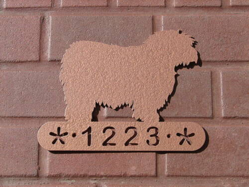 POLISH LOWLAND SHEEPDOG HOME ADDRESS SIGN DOG MEMORIAL