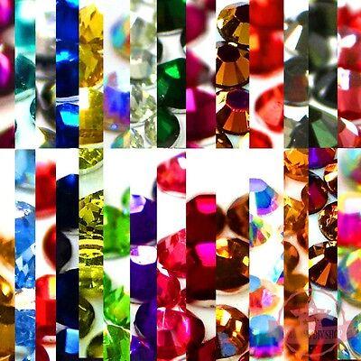 350 2mm DIY sparkling Resin Round Rhinestones 14 facets Flat back Nail Art