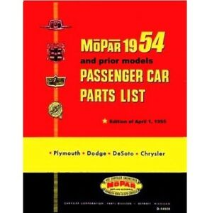 Admirable Illustrated Mopar Parts Manual For 1953 1954 Plymouth Dodge Wiring Cloud Hisonuggs Outletorg