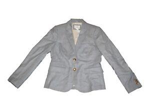 Women-J-Crew-Schoolboy-Gray-Wool-Jacket-Blazer-Size-2