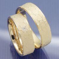 Apricotgold Trauringe | Hochzeitsringe | Eheringe Partnerringe Modell  P4241843