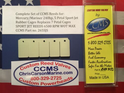 CCMS Mercury//Mariner 240hp Sport Jet Outboard Reed 5 Petal Rubber Cage PN.265SJS