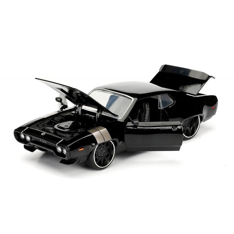 Fast and Furious 8 Doms Plymouth GTX Noir 1 24 Echelle Jada