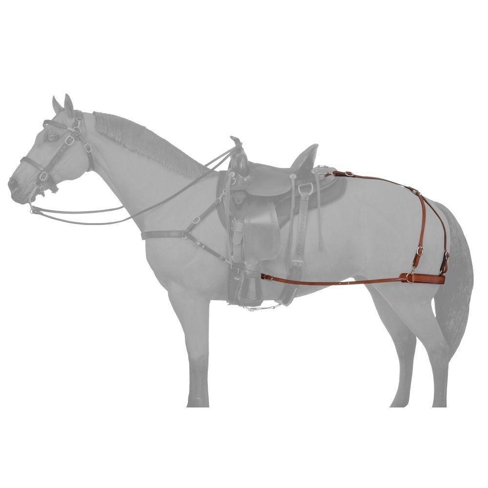 Tough - 1 Cuir Mule carneau Attache pour Selle et de circonférence braun