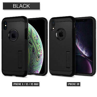 iPhone XS Max XR Case Genuine SPIGEN Ultra Tough Armor Hard Cover For Apple