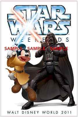 """8.5/"""" x 11/""""  Poster Star Tours Disneyland StarWars Weekend Darth Vader"""