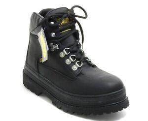 113 Bottes à Lacets Chaussures Basses Un Homme Bottes Cuir Noir Buffalo 44
