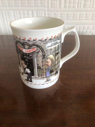 Humorous 1997 General Election Margaret Thatcher Major Commemorative Mug Blair