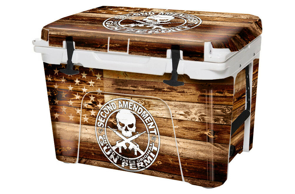 USATuff Custom Cooler Decal Wrap fits 110qt YETI Tundra 110qt fits FULL 2nd Amen Flag WD 8be45f