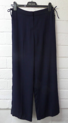 Womens Ladies New Long Plain Loose Side Lace Up Palazzo//Trousers//Pants UK 6-16