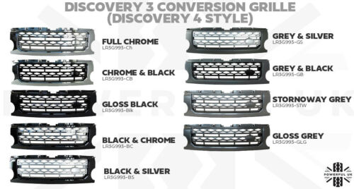 Stornoway Grey Disco 4 style Grille conversion Land Rover Discovery 3 LR3 LRC907