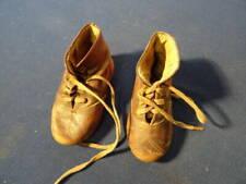 Sommerschuhe Sandalen rot-weiß Länge 6,2cm Größe 4//40 Puppenschuhe alte D.B.P