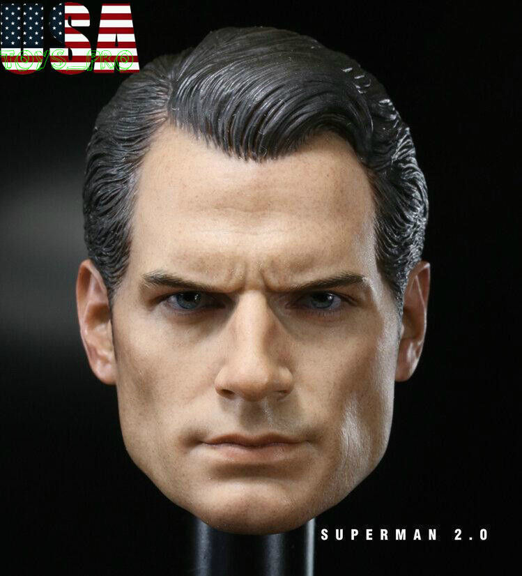 1 6 Henry Cavill Superman Head Sculpt 2.0 Clark Kent For Hot Toy PHICEN ❶USA❶