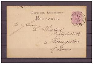 Empire-Allemand-Entier-Postal-P-10-Francfort-avec-apres-Konigstein-24-01-1882