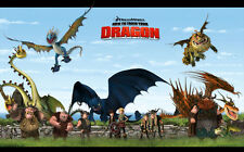 """How to Train Your Dragon 1 2 Wall Movie 21""""x13"""" Poster H03"""