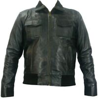 UNICORN Mens Real Leather BomberJacket | Black or Brown | S to 4XL | #D7/D8