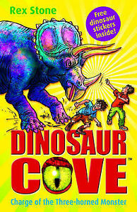 Charge-of-the-Three-Horned-Monster-Dinosaur-Cove-2-Stone-Rex-Very-Good-Book