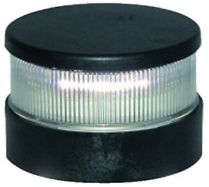 "Aqua Signal 20040-7 Series 20 4/"" All-Round Pedestal Light Black Housing"