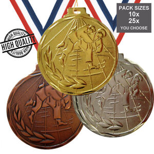 Lot de 10 Troph/ée Sportif Medaille Judo 50MM
